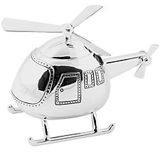 Silver Plated Helicopter Money Box