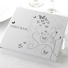 Elegant Butterflies Guest Book