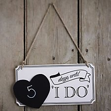 Wooden Countdown Chalkboard Sign - Vintage Affair