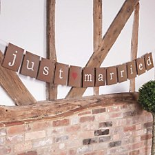 Just My Type Just Married Bunting