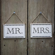 Vintage Affair Mr and Mrs Signs