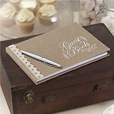 Vintage Affair Hessian Guest Book