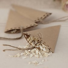 Vintage Affair Brown Kraft Confetti Cones