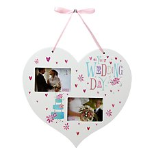 Blue Eyed Sun Hanging Heart Photo Frame