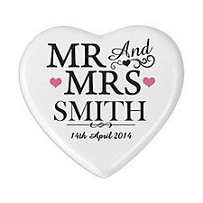 Mr and Mrs Heart Coaster