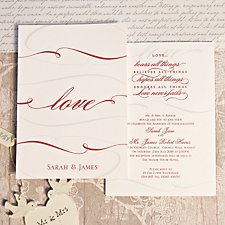 Eternity Wedding Day Invitation