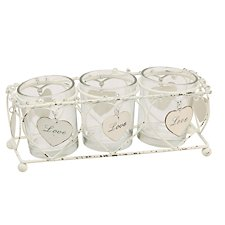 Juliana Hanging Hearts T-Lite Holder