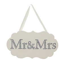Amore Mr & Mrs Plaque with Crystals