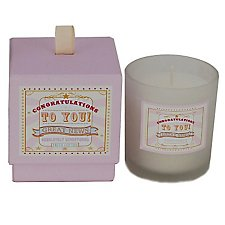 Congratulations  Fresh Cotton Scented Candle