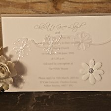 Sweet Daisies Wedding Day Invitation