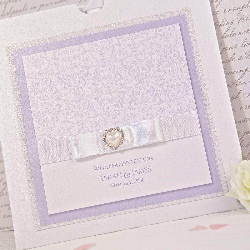 Purple Wedding Invitations | Lavender & Cadbury Invites | B&G