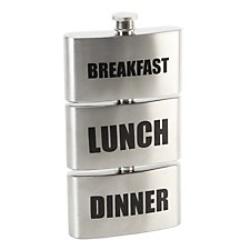 Breakfast, Lunch, Dinner Hip Flask