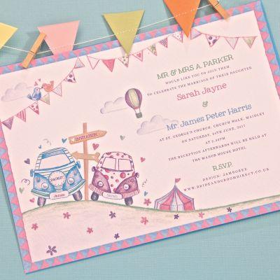 Bunting Wedding Invitations Bunting Invitations Bride Groom