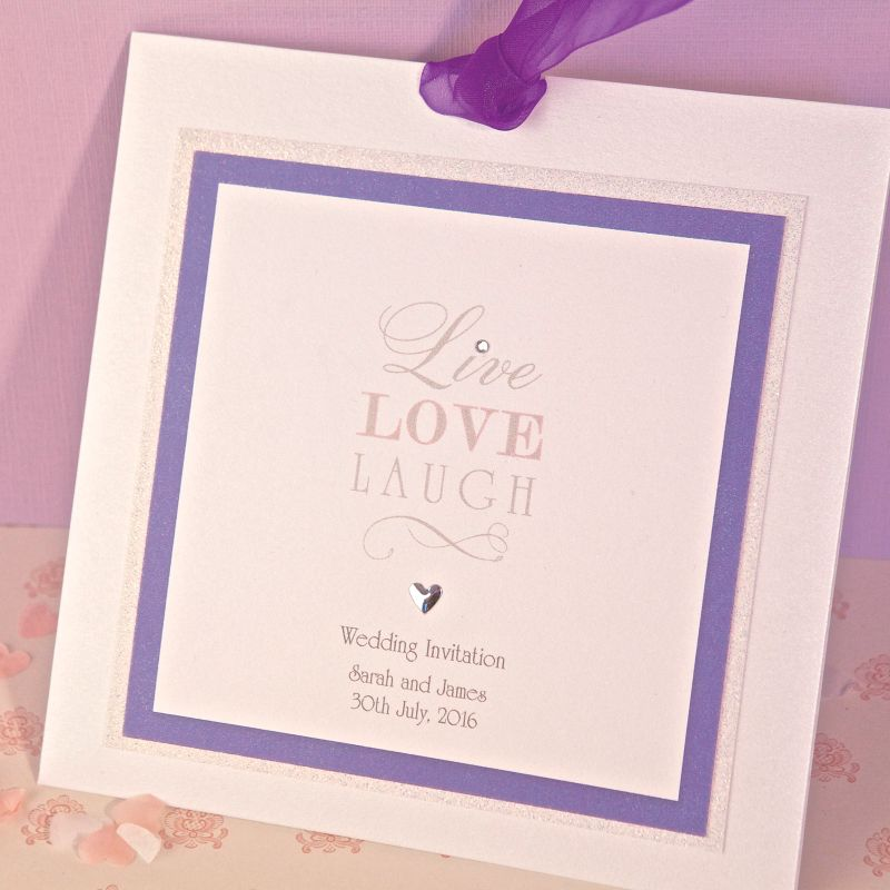 Live Laugh Love Wedding Evening Invitation