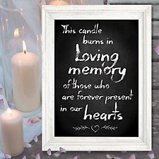 Lighted Candle Memorial Canvas