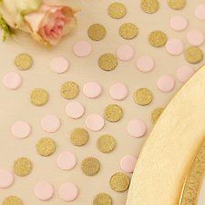 Pink & Gold Glitter Table Confetti