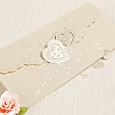 Romantic Heart Wedding Day Invitation