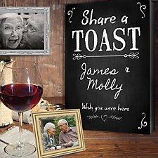 Share a Toast Memorial Canvas