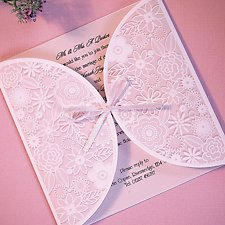 Pink Wedding Invitations Invites Bride Groom
