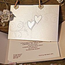 Sparkling Hearts Day Invitation