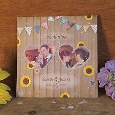 Sunflowers Wedding Day Invitation