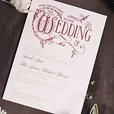 Regal Wedding Day Invitation