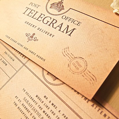 Telegram Wedding Evening Invitation