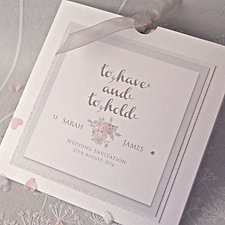 To Have and To Hold Wedding Day Invitation