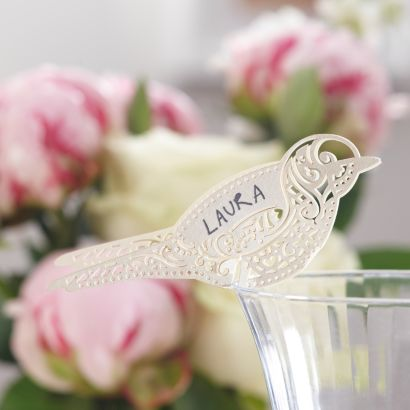 bird shaped place cards make your own wedding stationery