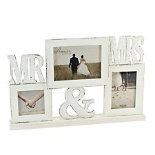 Mr & Mrs Multi Aperture Photo Frame