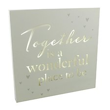 Amore Together Light Up Wall Plaque