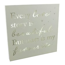 Amore Love Story Light Up Wall Plaque