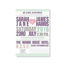 Billboard Wedding Day Invitation