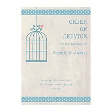 Birdcage Order of Service