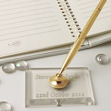 Gold Acrylic Pen (Personalised)