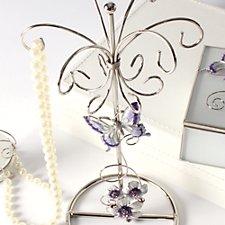 Purple Butterfly Jewellery Holder