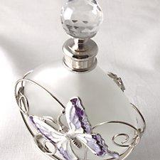 Purple Butterfly Perfume Bottle