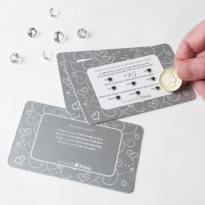 Trivia Cards In Gold Amp Silver Wedding Games