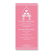Lovebirds Wedding Day Invitation