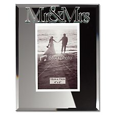 Mr & Mrs Mirror Photo Frame