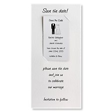 Black Tie Save the Date Magnet