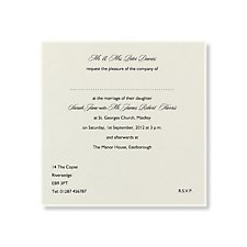 Bespoke Wedding Day Invitation