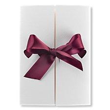 Ribbons Day Wedding Invitation