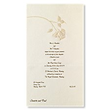 Pearl Rose Wedding Day Invitation