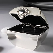 Silver & Ivory Ring Box