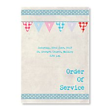 Bunting Order of Service