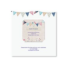 Bunting Save the Date Magnet