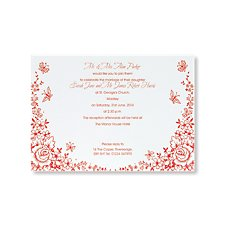 Butterflies and Flowers Day Invitation