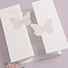 Butterfly Kisses Wedding Day Invitation