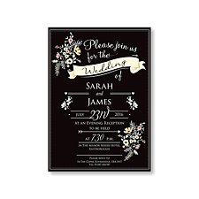 Chalkboard Evening Invitation